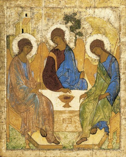 God in Art (The Trinity by Andrei Rublev)
