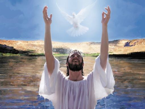 Jesus baptism on a mission