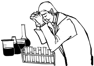 scientist praying