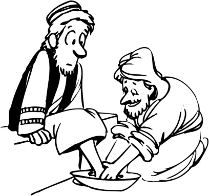 Humility and Service (Jesus Washing Feet)